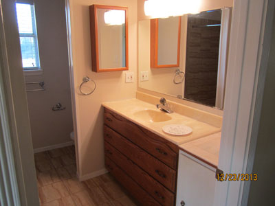 Master bathroom vanity picture.