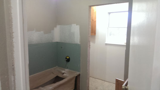 Bathroom - During Remodel